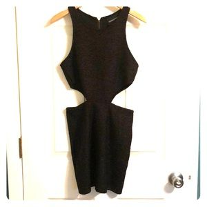 MinkPink side cut out black dress